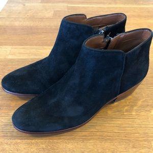 f98d22499 Sam Edelman Black Suede Petty Chelsea Ankle Boot
